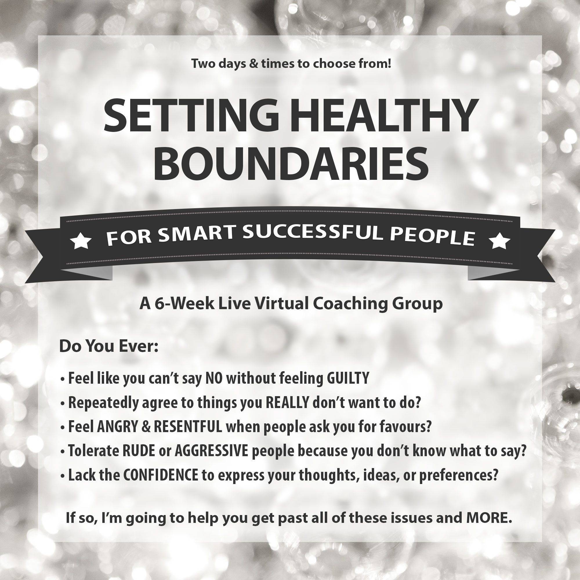 Setting Healthy Boundaries Bootcamp