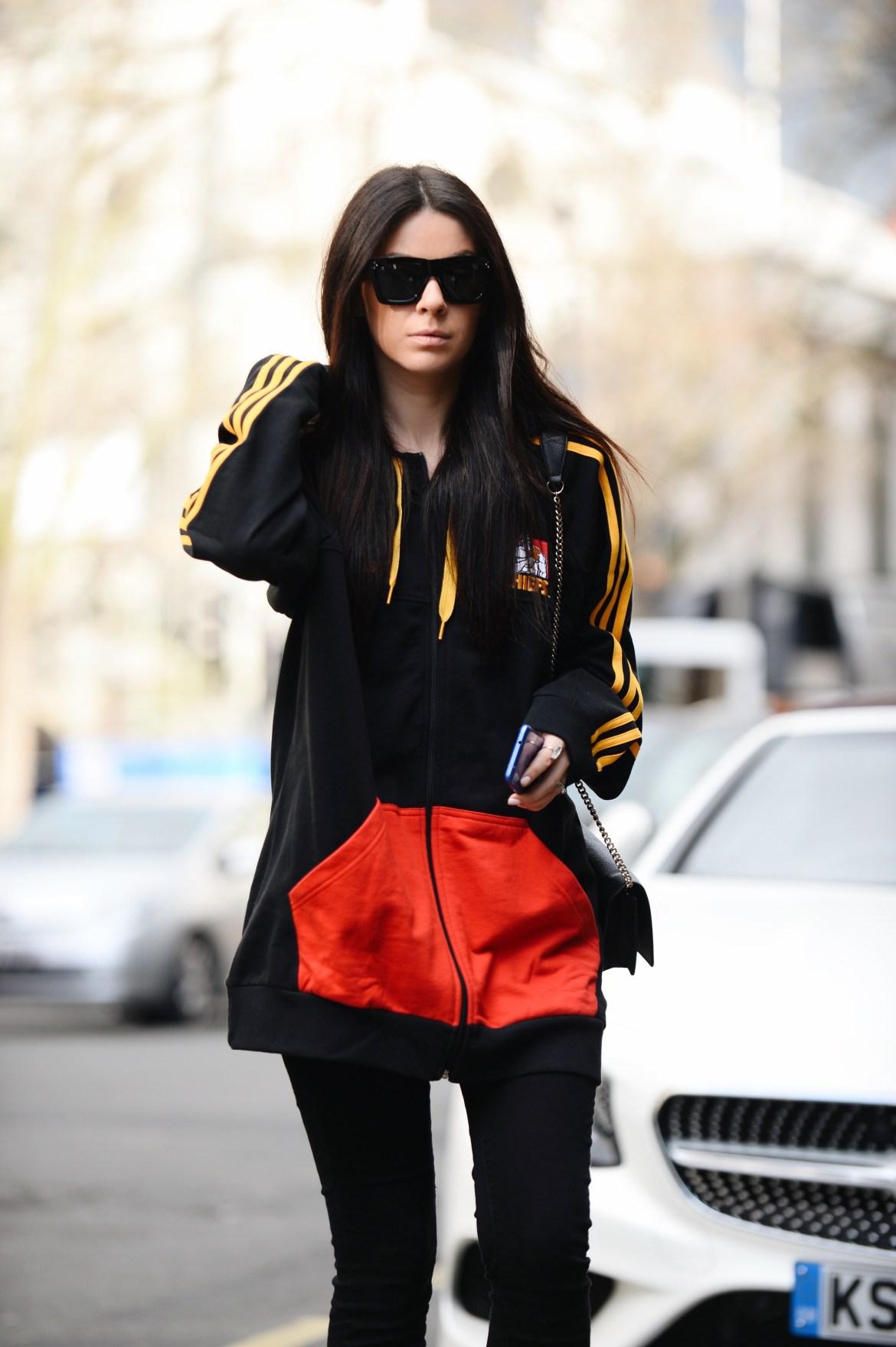 adidas hoodie at lfw