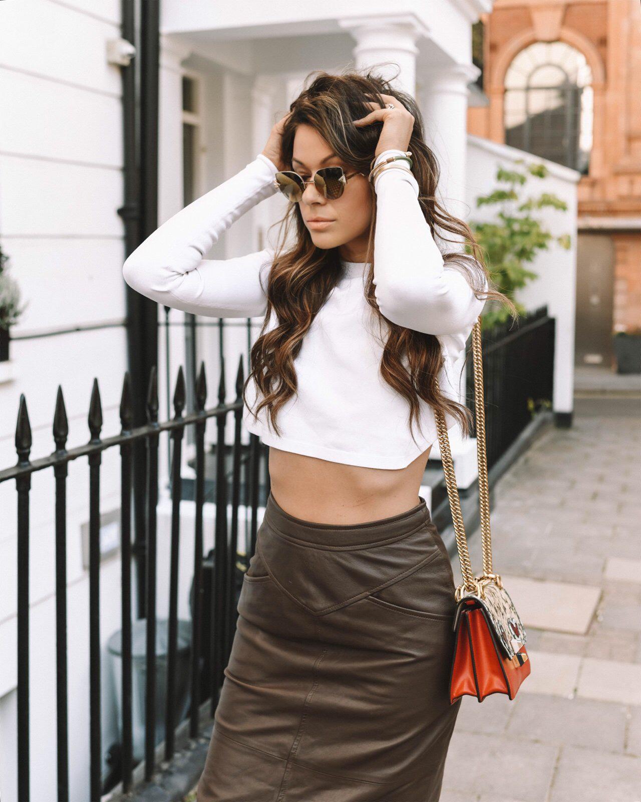 Fendi sunglasses and crop top