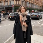 black coat outfit street style