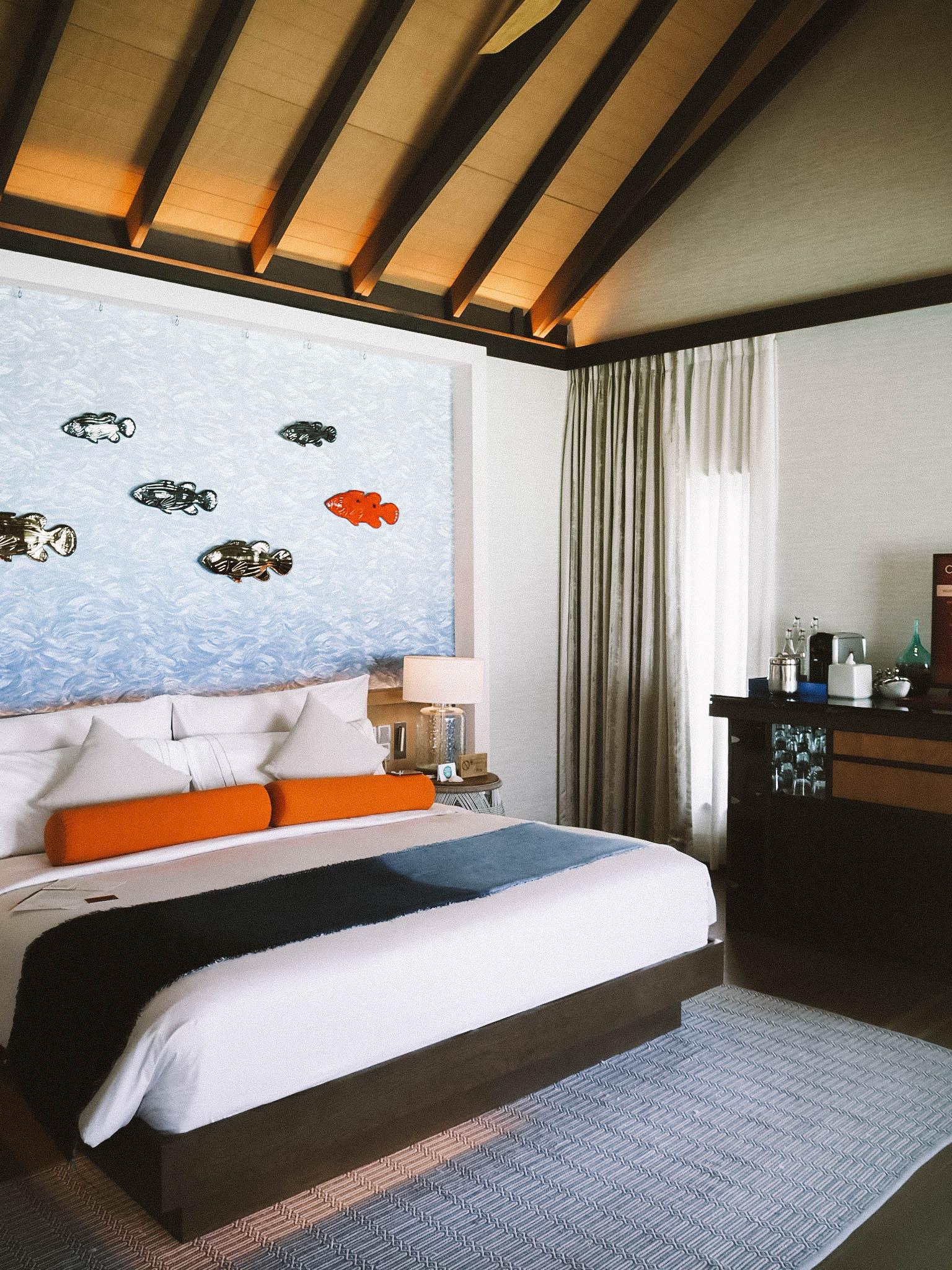 water villa interior in Maldives