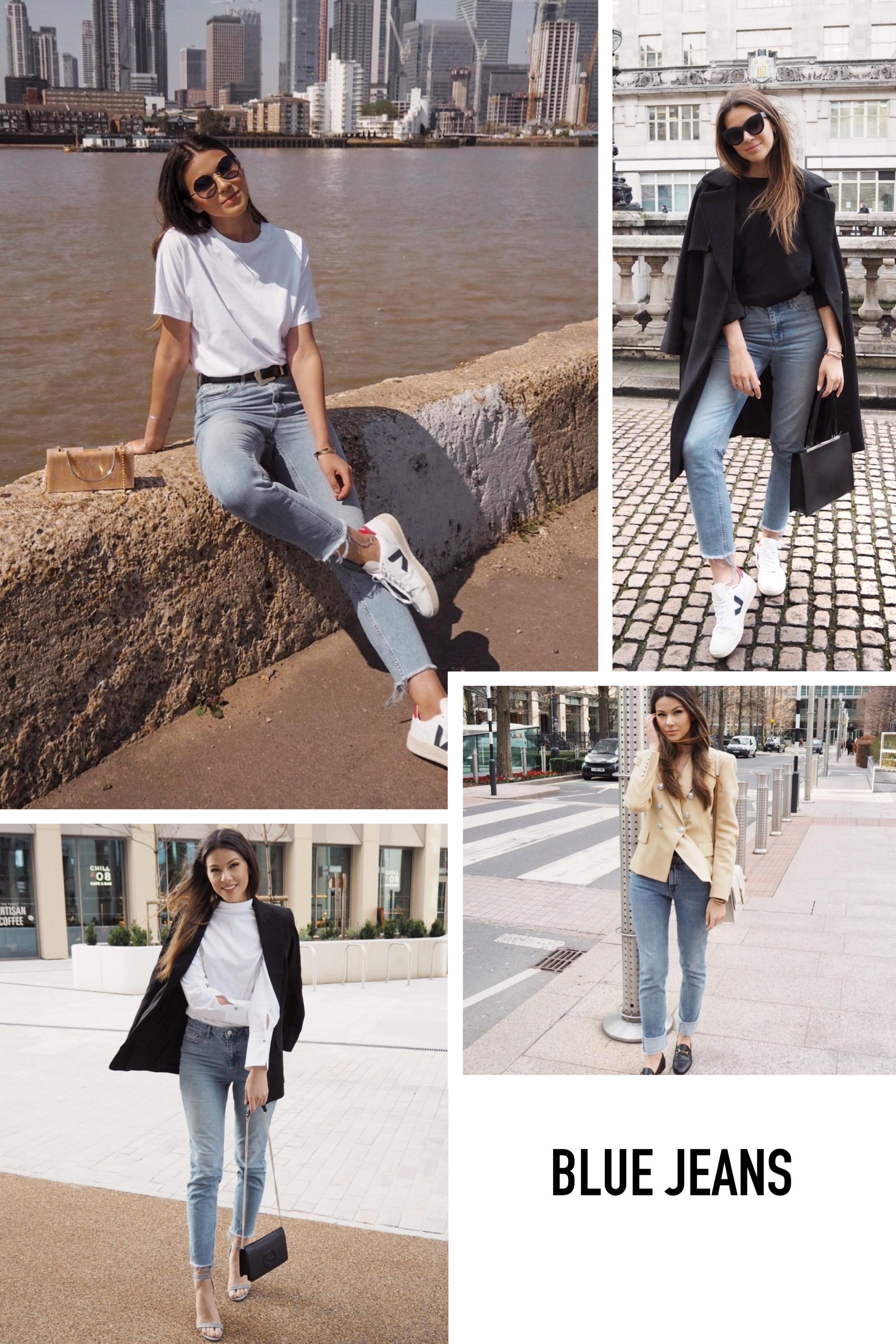 rewearing blue jeans