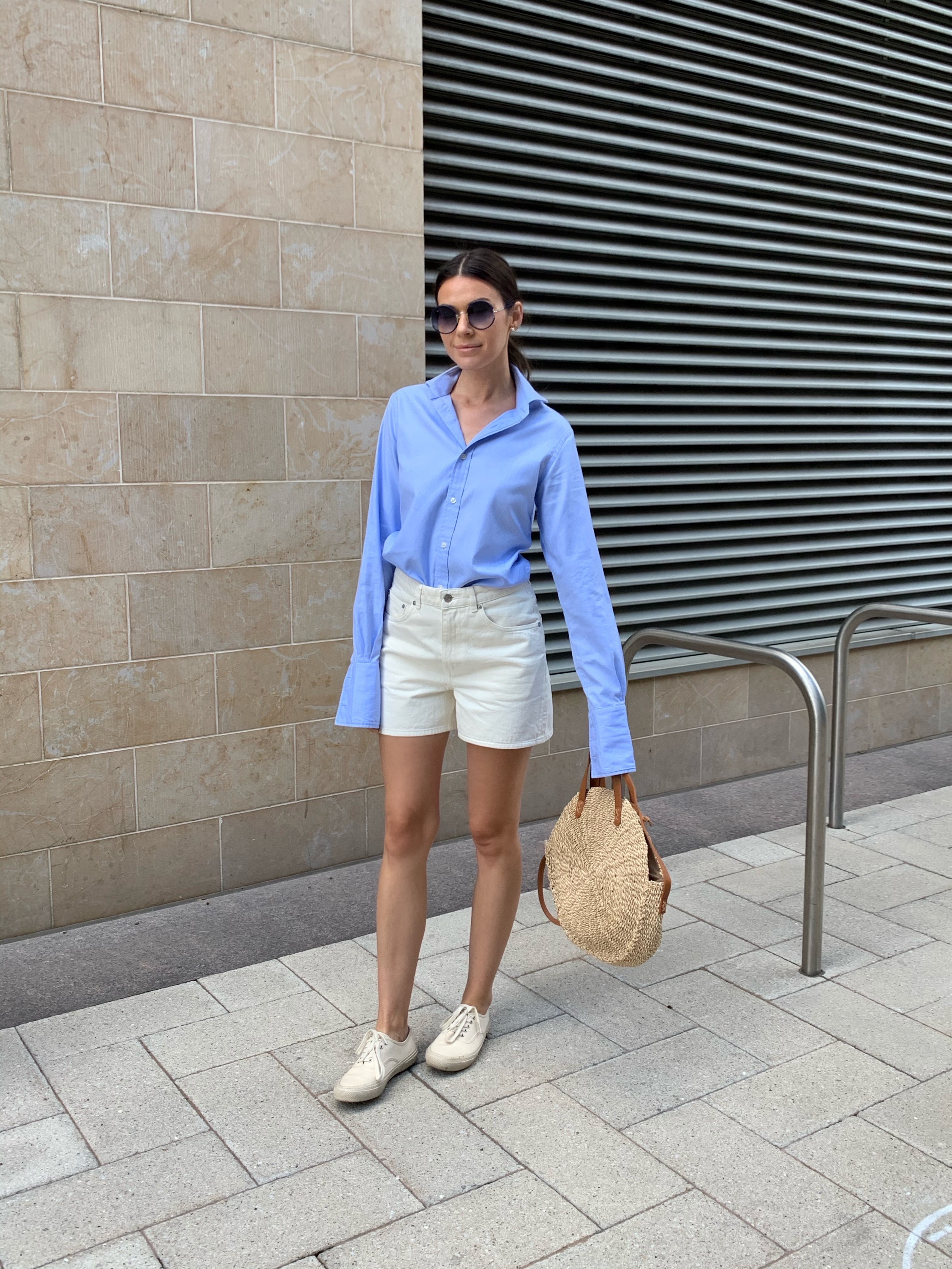 how to wear off-white shorts this summer