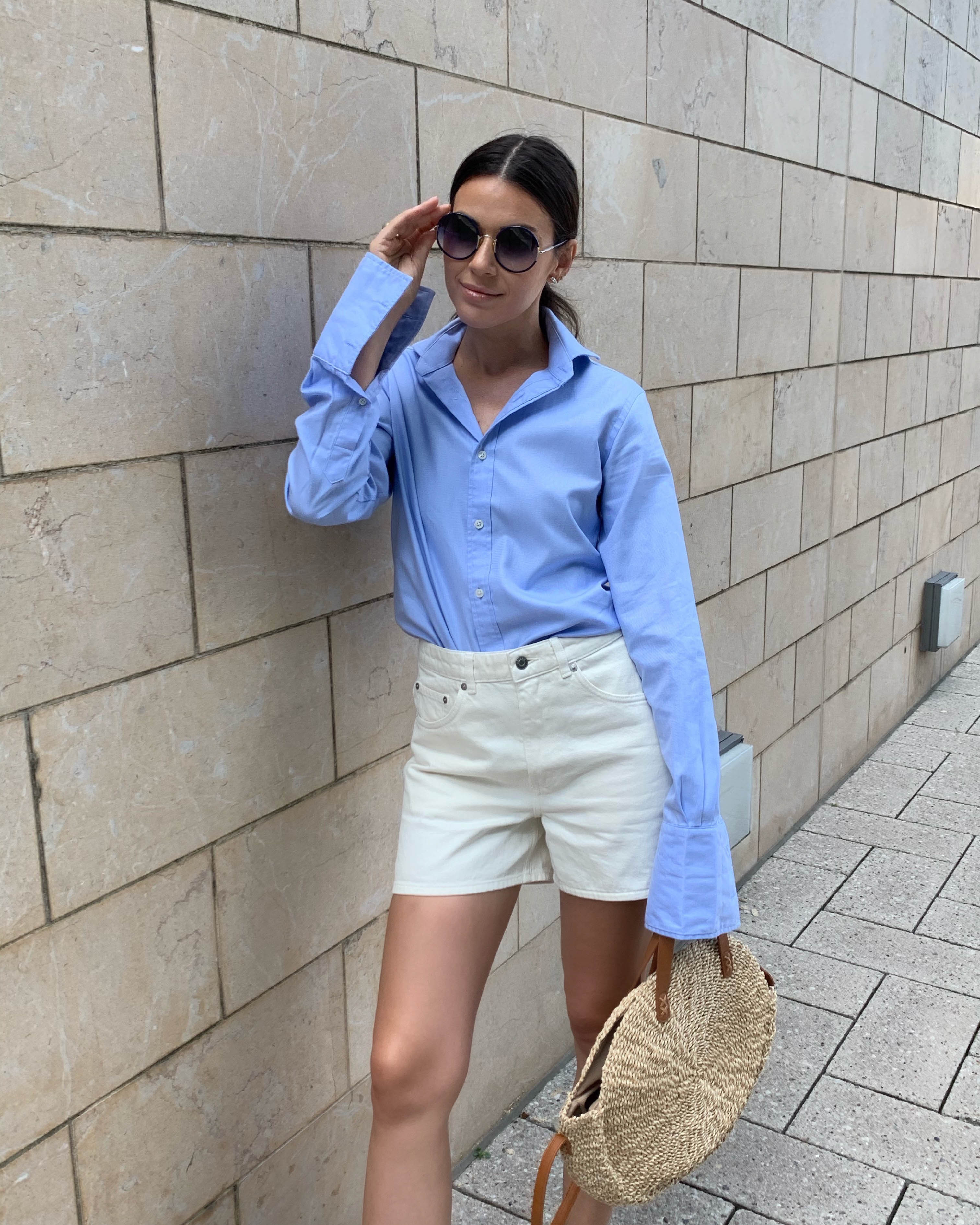 blue top styling