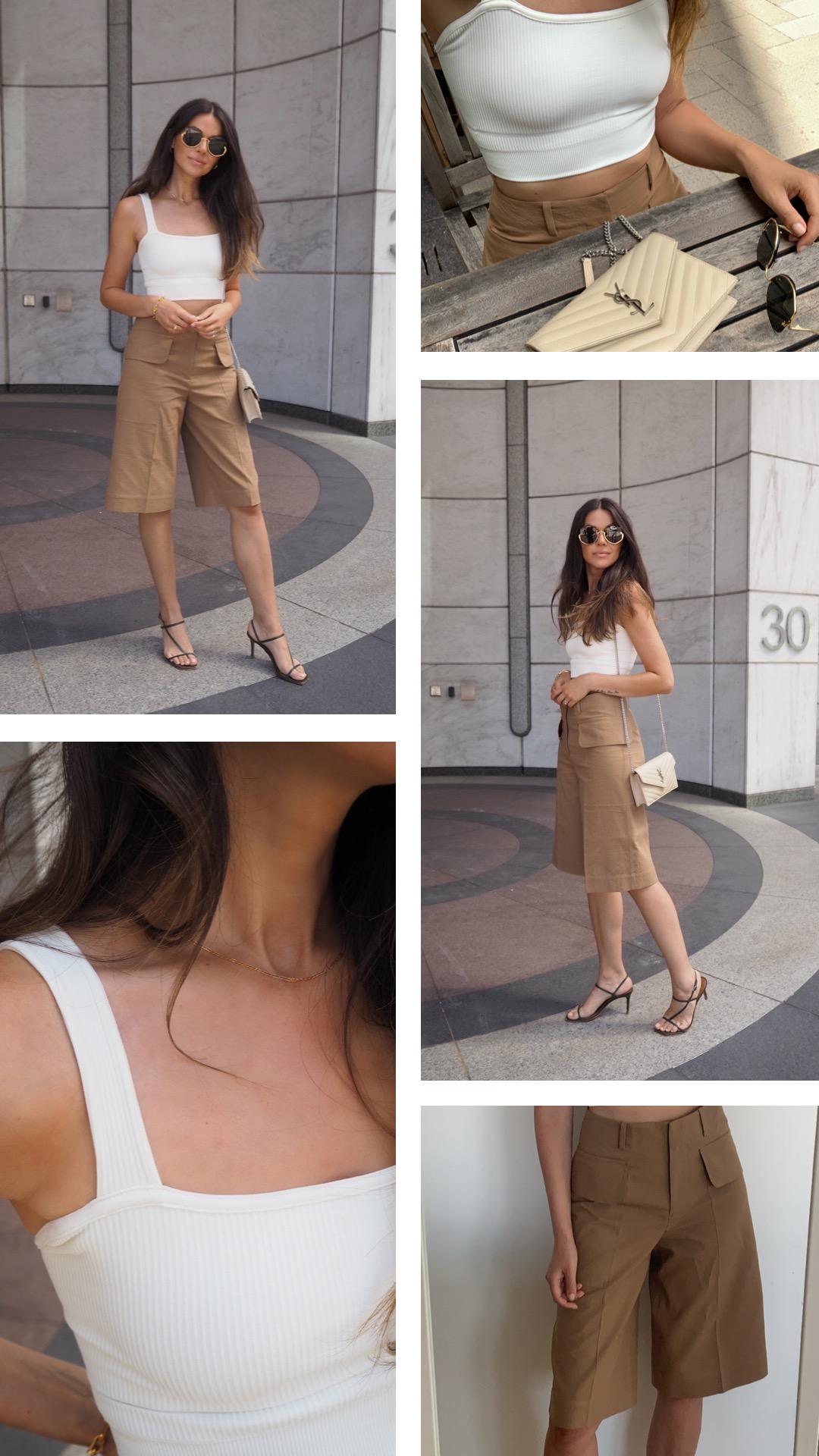 Julia Lundin utility shorts