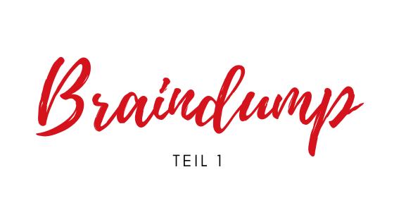 Braindump – in 3 Schritten zu mehr Ordnung im Kopf (Teil 1)