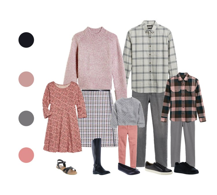 outfit guide for family session - muted color