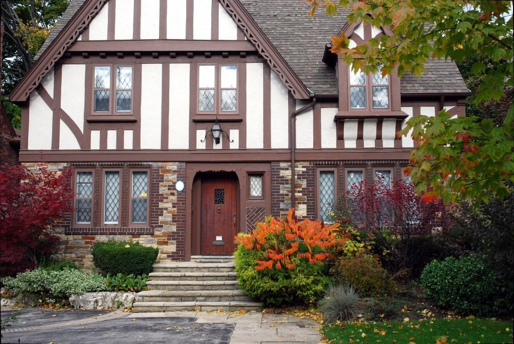 Tudor homes are popular in Portland, Oregon.