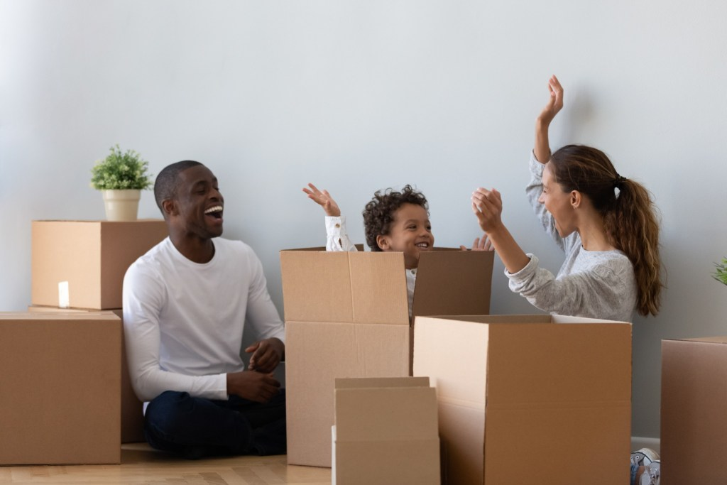 Boxes make it much simpler to pack and stack your stuff.