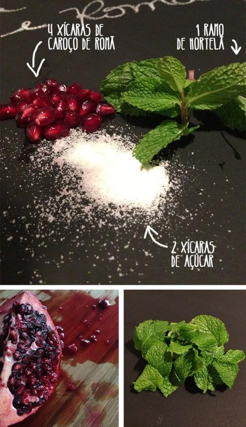 Receita fácil de geléia de romã com saquê e hortelã e diy de potinhos de vidro personalizados. Essa fruta cheia de significados, rende uma geléia deliciosa!