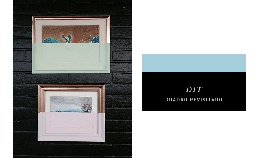 """Que tal renovar fazendo """"arte"""", de um jeito fácil e aproveitando aquele quadro que já está fora de moda e deslocado do decor?"""