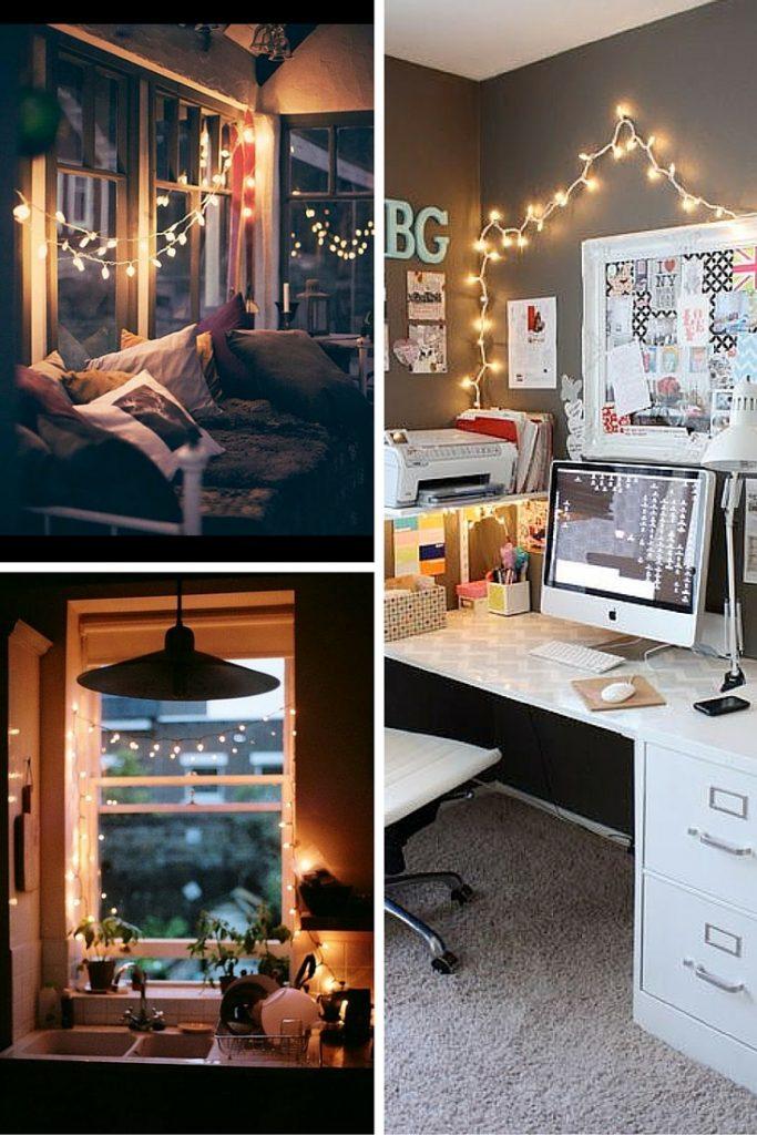 DIY - O fio de luz do Natal não precisa ir para o armário em janeiro. Essa é uma idéia para transforma-lo em algo que enfeite e alegre sua casa?