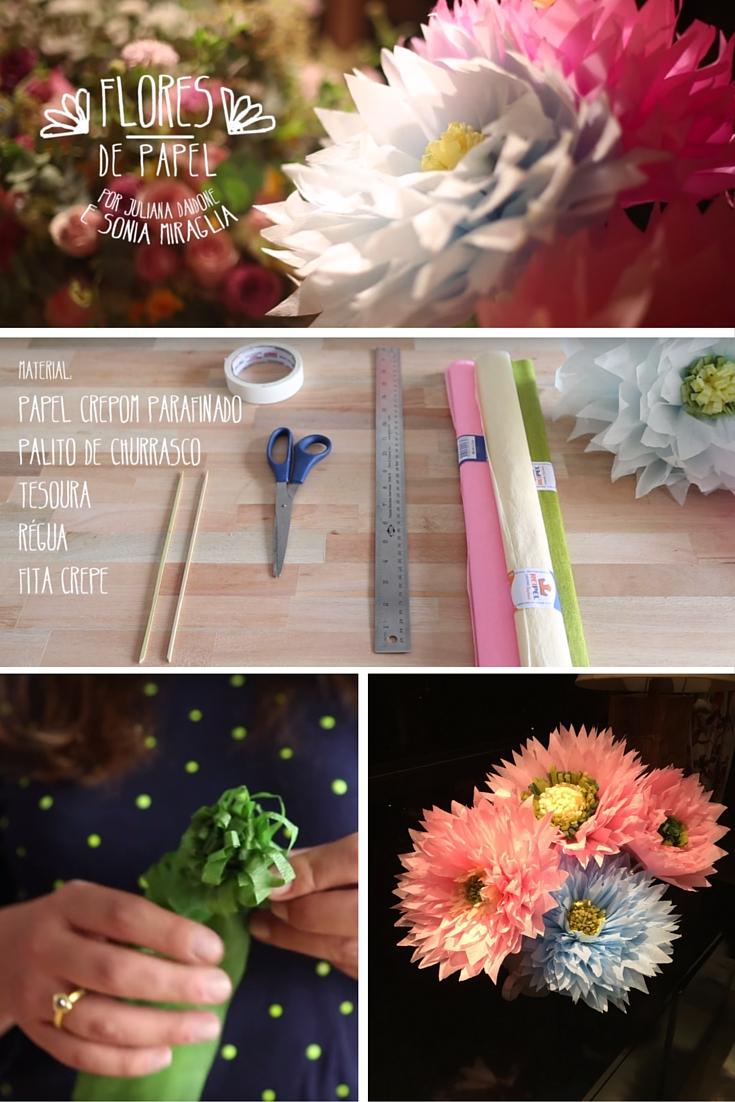 diyFlores de papel são uma ótima opção para decoração de festas e, porque não, em casa também. São divertidas, charmosas e criativas, além de diferentes.