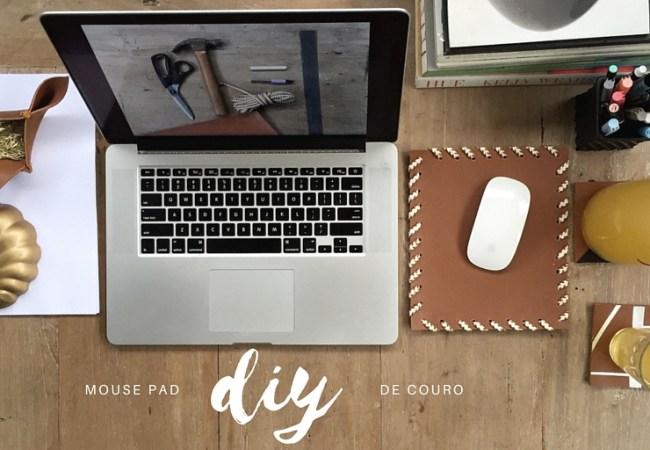 DIY - Que tal fazer um mouse pad criativo e bonito usando couro ecológico e a sua criatividade? Com uma vantagem: é fácil e rápido de fazer. Crie! Ouse! Faz bem!