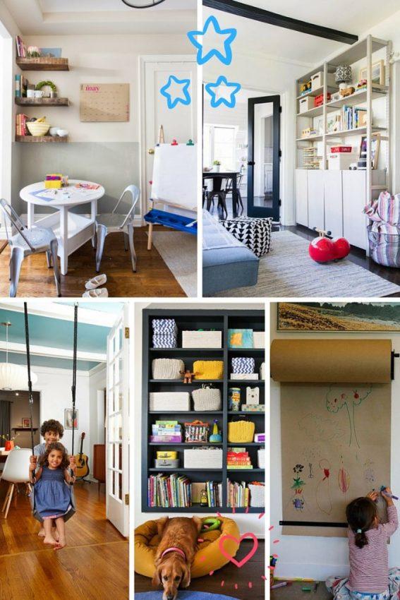 Casas com crianças devem ter cara de casas com crianças. E isso não significa bagunça, brinquedos espalhados. Significa espaço, individualidade infantil.