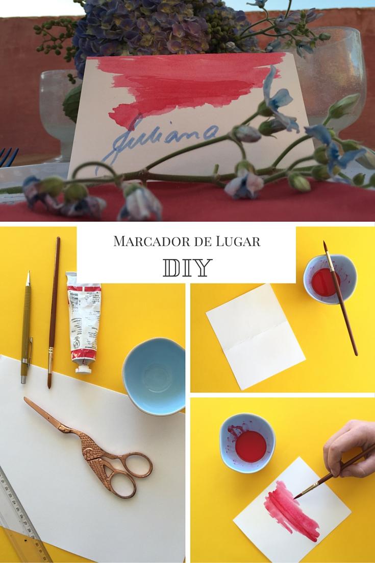 DIY - Um marcador de lugar em aquarela diferente e criativo ajuda a dar estilo e elegância ao seu jantar ou almoço. Este é muito fácil e esbanja charme!