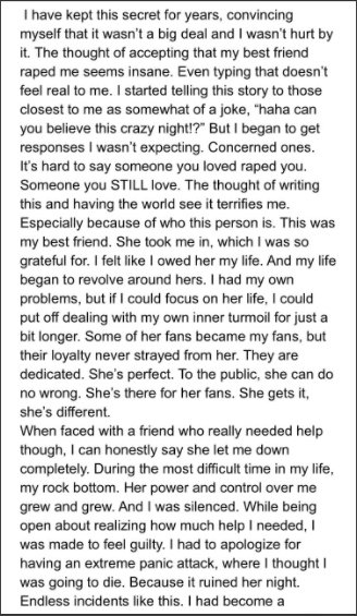 Timothy Heller rape story. Part 1