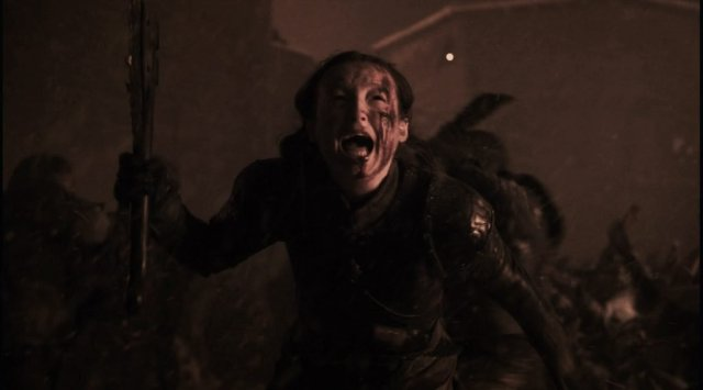 Lyanna Mormont running to her death.