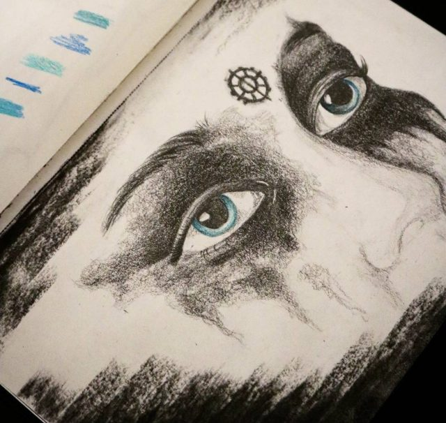lexa heda eyes make-up drawing