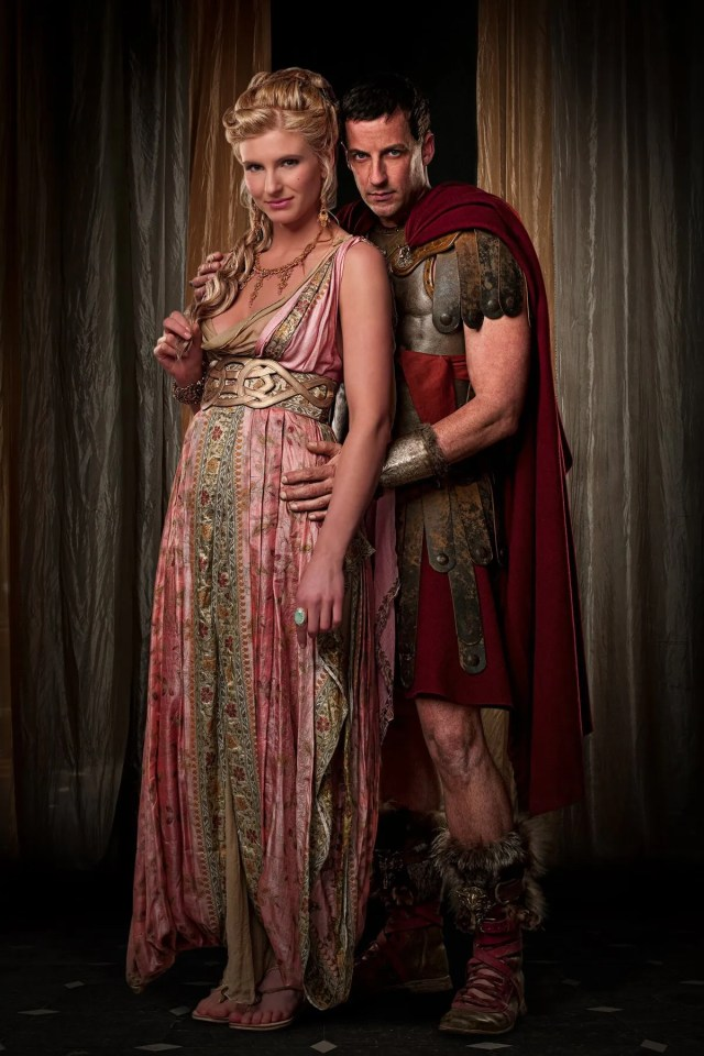 Spartacus: Blood and Sand. Viva Bianca as Ilithyia and Craig Parker as Glaber