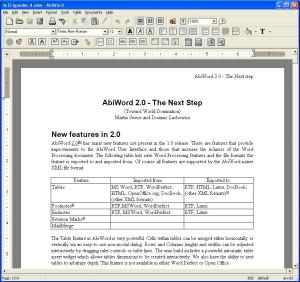 Abiword Open Source free software