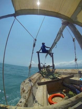 Dhow sailing in Zanzibar