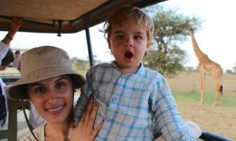 Con mamá de safari