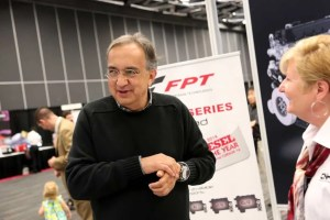 Sergio Marchionne at CNH Industrial booth