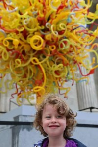 My sun and the Chihuly Sun sculpture