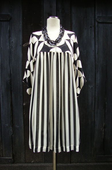Temperley monochrome mini-dress