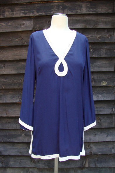 Milly of New York navy silk rope tunic