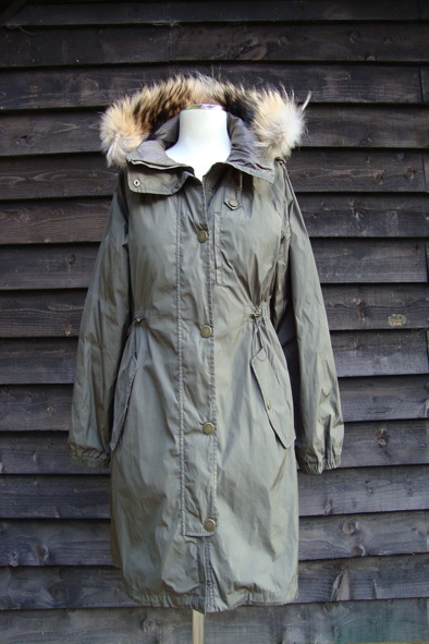 MaxMara Weekend parka with fur trim