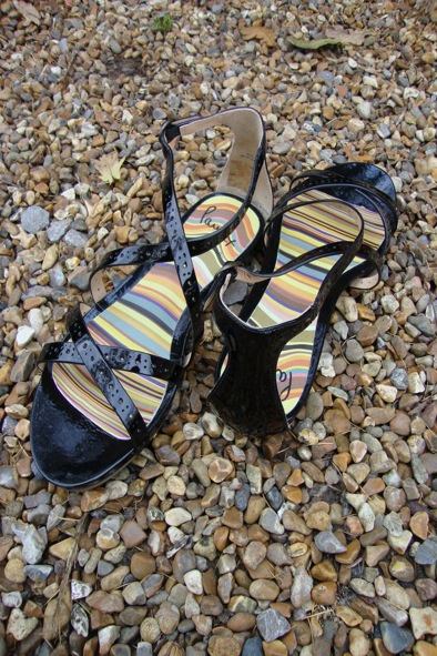 Paul Smith black patent sandals