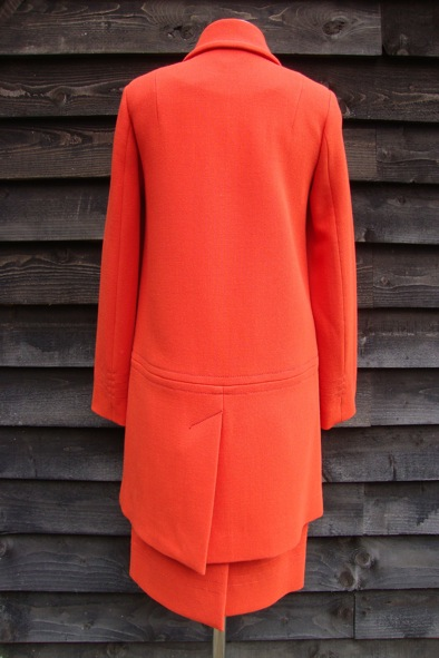 Orla Kiely orange coat and skirt