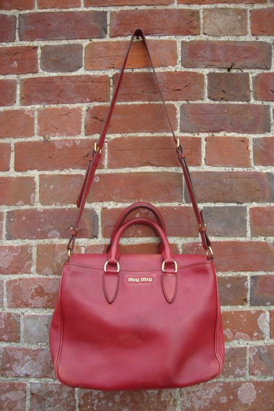 Miu Miu red leather satchel