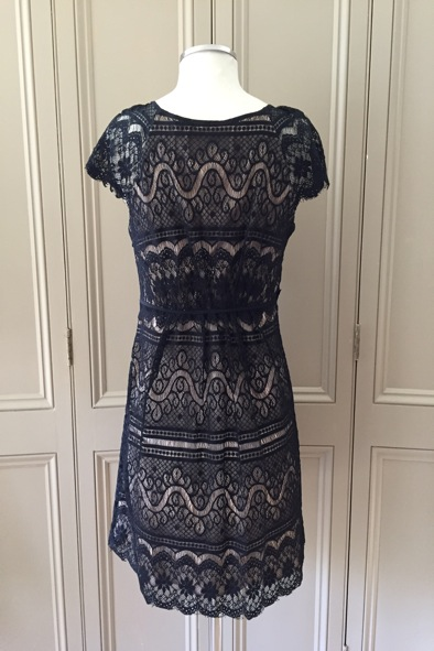 Milly of New York black lace dress