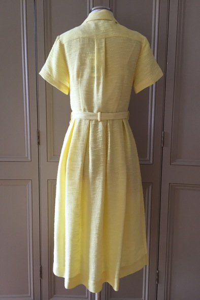 Orla Kiely yellow slub silk shirt dress