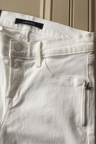 JBrand white Tali cropped jeans with zips