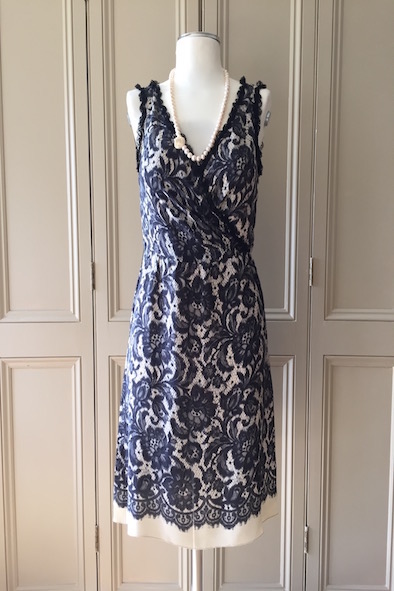 Moschino silk lace effect crossover dress