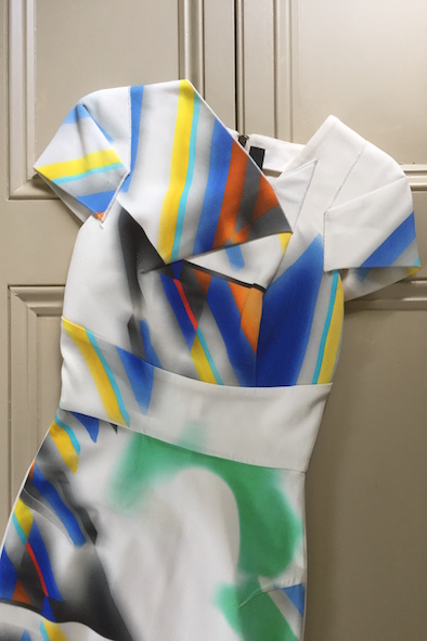 Roland Mouret multi-coloured structured dress