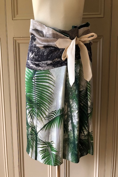 Dries Van Noten silk paperbag skirt