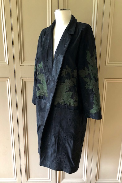 Dries Van Noten embroidered cotton coat with pockets
