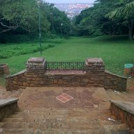Looking down into the UKZN gardens