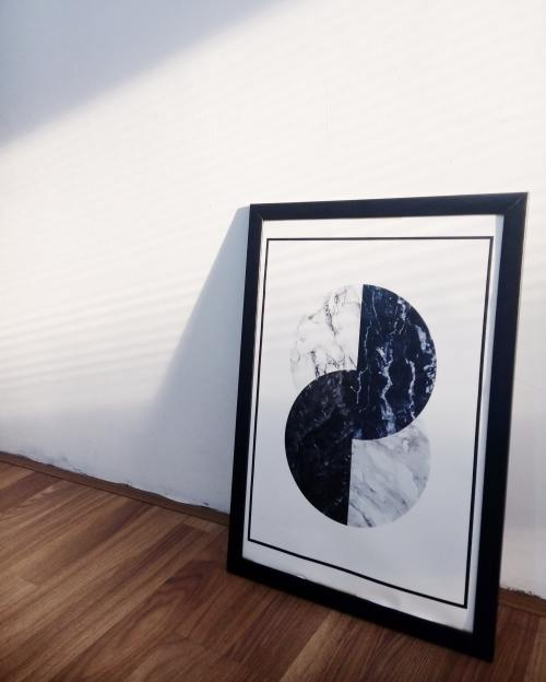 framed piece of minimal art