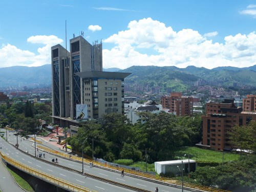 view of the Santa Elena Mall in Medellín