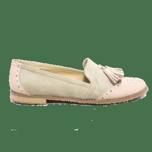 pantofi din piele cu talpa joasa