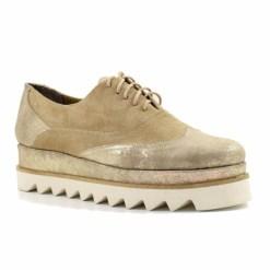 Pantofi din piele naturala Misty Bej