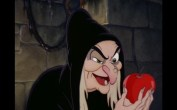 witch with poisoned apple in snow white