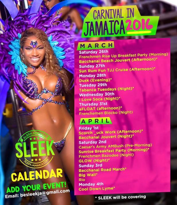 Carnival In Jamaica 2016 Schedule