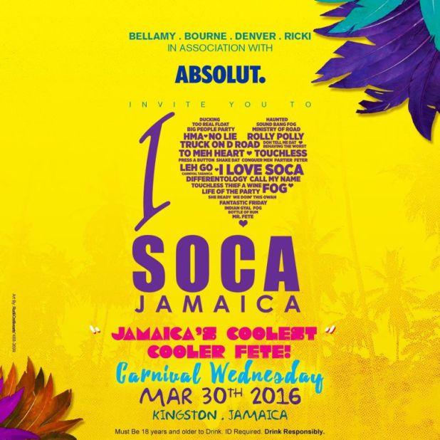 I Love Soca Cooler Fete (Jamaica Carnival 2016)